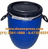 Bombonas de plastico de 50 litros usadas  tampa removivel