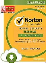 Norton security essencial 2018 1 ano 1 pc