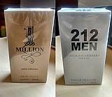 Kit perfumes one million e 212 men 100 ml masculinos