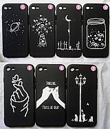 Capa de silicone preta iphone 7 8 tumblr