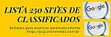 Software com 250 sites classificados gratis para voce anunciar