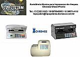 Impressora de cheques chronos check-pronto em sp