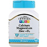Calcio,  magnesio e zinco   d3,  90 comprimidos