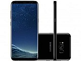 "Smartphone samsung galaxy s8  64gb preto dual chip - 4g cam. 12mp   selfie 8mp tela 6.2"" quad hd"