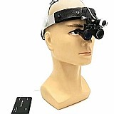Óculos lupa cabeca fotoforo tratamento estetico e cirurgias
