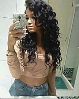 Cabelo humano natural mega hair cacheado 50 cm -100 gr