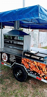 Carretinha pra venda de churrasquinho bebidas com chapa pra pernil