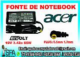 Fonte carregador notebook acer 19v 3.42a 65w em salvador ba