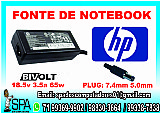Fonte carregador notebook hp 18.5v 3.5a pino 5.5mm x 7.4mm em salvador ba