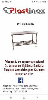 Plastinox acessorios para cozinhas ,  padarias ,  hospitais,   industriais ltda