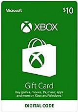 Microsoft gift card 10 dolares cartao presente xbox live usa