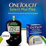 Aparelho medidor de glicemia one touch select plus flex   10 tiras reagentes