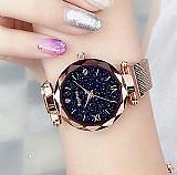 Relogios de luxo com puseira magnetica ceu estrelado relogio feminino relogio de quartzo relogio de pulso moda feminina relogio de pulso reloj mujer relogio feminino