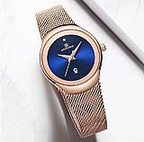 Relógio masculino naviforce marca de luxo assista mulheres fashion dress quartz watch ladies malha cinta de aco cheio relogios à prova d água relogio feminino