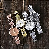 Relogio  zero 501 2019 nova moda quartz aco inoxidavel banda strap watch analogico de marmore w luxo casual rodada presentes livre gratis
