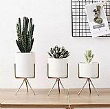 Techome estilo nordico ceramica flor pote plantador de ferro quadro titular da planta planta verde vaso de flores mesa de escritorio decoracao do ornamento