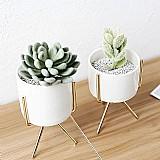 Jarro branco de prcelana minimalismo nordico ferro arte vaso de ceramica vasos de flores suculentas / planta hidropônica vaso para o escritorio  /cafe / home decor