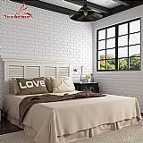 Papel de parede diy auto adhensive 3d tijolo adesivos de parede que vivem decoracao da sala de espuma à prova d água revestimento de parede papel de parede para o fundo tv quarto dos miudos