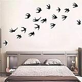 Papel de parede  criativo do passaro preto adesivo de parede de vinil para casa decoracao da parede murais adesivos nas janelas da sala de animais decorativos papel de parede
