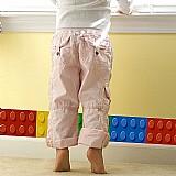 Bloco colorido  blocos decorativos funlife de parede fronteiras para as criancas,   à prova d agua adesivo 3d fronteiras papel de parede,   casa de banho cozinha adesivo de parede fronteira