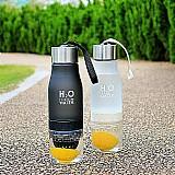 Garrafa de agua 650ml com espremedor de frutas de plastico criancas lemon suco de garrafa beber esportes ao ar livre chaleira portatil