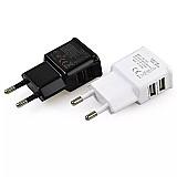 Carregador dual usb 2a carregamento rapido carregador de parede de viagem da ue plug adapter portatil cabo do telefone movel para o iphone samsung xiaomi
