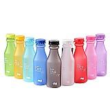 Garrafa de água portatil para viagem bpa free 550 ml antivasamento inquebravel fosco plastico chaleira yoga corrida camping
