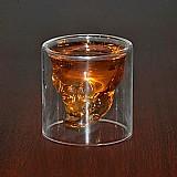 Copo cranio para shots 150ml vodka cristal transparente copo de vidro cabeca do cranio para whiskey vinho club bar de cerveja de vidro de vinho