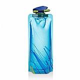 Garrafa de agua dobravel retorcivel reutilizavel para viagem 750ml
