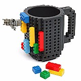 Caneca de cafe lego build-em blocos de montar 350ml