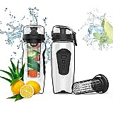 Shaker tritan dozzlor garrafa de suco com infusor drinkware portatil 1 litro
