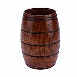 Copo de madeira barril classico para cerveja