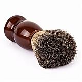 Pincel de rosto pelos de texugo escova de madeira qshave