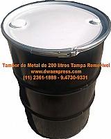 Tambor de metal de 200 litros usados (11) 2361-1888 tr