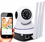 Camera de vigilancia wi-fi sem fio 360º hd