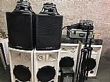 Equipamento de audio para festas,  eventos e igrejas