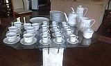 Jogo de cha,   cafe e bolo em porcelana,   anos 60