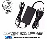 Fonte de alimentação 12 volts 5 amper plástico - cftv - lampada led - segurança