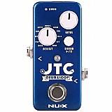 Pedal looper nux jtc drum loop com bateria eletrônica