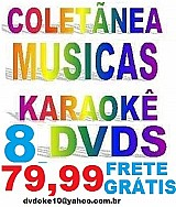 8 dvds karaokes: sucessos 2018,  sertanejo universitario,  zeze,  internacional etc