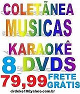 8 dvds karaokes: sucessos 2018,  sertanejo universitario,  zeze,  internacional etc
