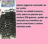 Cabelos orgânico cacheado na cor preta