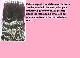 Cabelo orgânico liso e levemente ondulado na cor preta