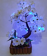 Bonsai iluminado com luz  de led