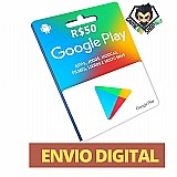 Cartao google play store gift card r$10 reais - gamebrshop