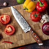 Faca 8 polegada faca do chef faca de cozinha ultra afiada alta carbono japones aus-10 super aco inoxidavel pakka madeira faca caixa presente