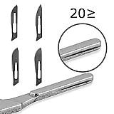Laminas cirurgicas do bisturi do aco carbono   1pc 4  punho bisturi diy ferramenta de corte pcb reparacao animal faca cirurgica
