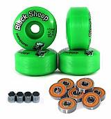 4 roda skate street 51mm black sheep c rolamento e espacador