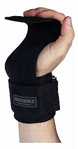 Luva halter straps tala larga musculacao academia crossfit