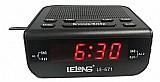 Relogio despertador digital eletrico de mesa radio am fm